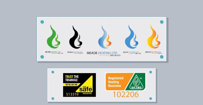 Meade Heating Logos